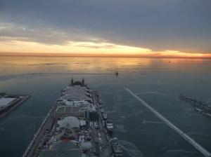 Sunrise over Navy Pier