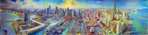 Chicago's Lakefront Skyline, 1968  by Steven Rettigi.