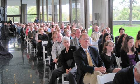 Crowd enjoying proceedings at 40th Anniversary Celebration