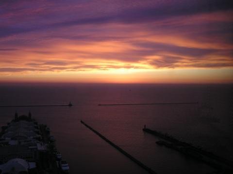 Lake Point Tower dawn